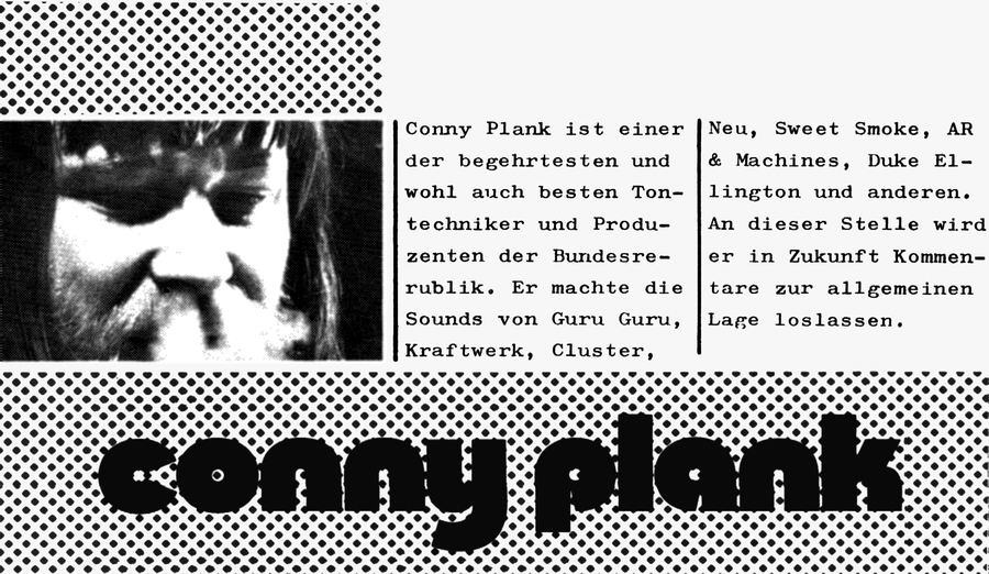Conny Plank '72