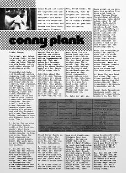 Conny Plank Report 4/72