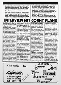 Conny Plank Interview 11/74